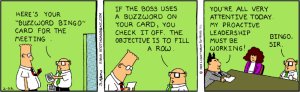 Have you played buzzword bingo at the office?